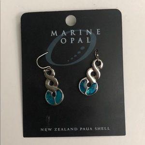 Marine opal earrings